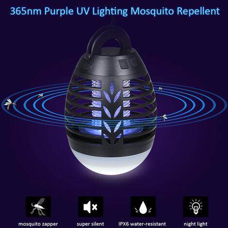 Lampe anti-moustique de camping de rugby noire Generation IPX6 etanche
