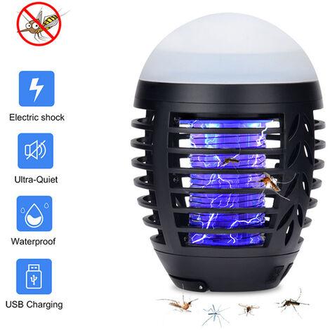 Lampe anti-moustique extérieure étanche Lampe anti-moustique à choc électrique Lampe anti-moustique multifonctionnelle USB