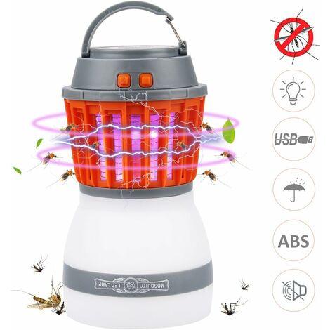 Lampe Anti Moustique LED UV Lampe Camping 2 En 1 Lampe Torche Randonnée Rechargeable 2200mah Batterie Etanche IP67 3 Luminosité Avec USB Cable