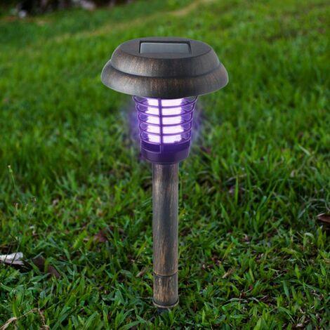 Lampe anti-moustique solaire anti-moustique piège à insectes pour pelouse de jardin