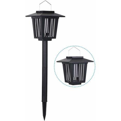 Lampe Anti-Moustique Solaire Lampe LED Lumière Blanche/Violete Eclairage et Tue-Moustique Lampe Solaire de Jardin/Pelouse