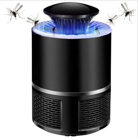 Lampe Anti Moustique,5W Moustique Piège,Distance Efficace max de 40㎡, 360° UV LED Moustique Tueur Lampe,Alimenté par USB,Répulsif Anti Insecte,Sûr et Efficace,Pour Intérieur et Extérieur (Noir)
