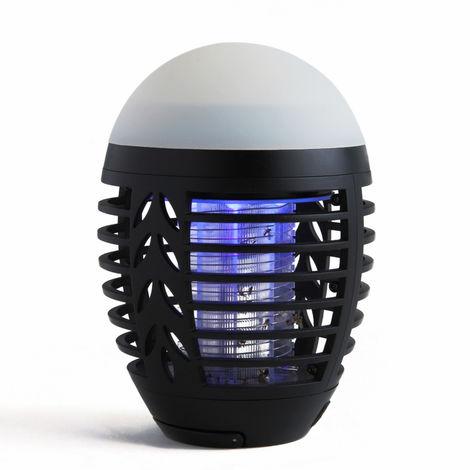 Lampe Anti-Moustiques 2-En-1, Rechargeable Par Usb, Pour Interieur Et Exterieur