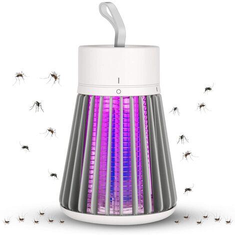 Lampe Anti Moustique,UV LED Tueur de Moustiques Intérieur Efficace Portée 30m² Pièges à Mouche, Destructeur d' Insectes Electrique pour Chambre, Maison, Cuisine, Bureau