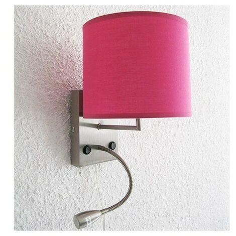 Lampe applique avec liseuse Nuit d'Hôtel Rose - Rose