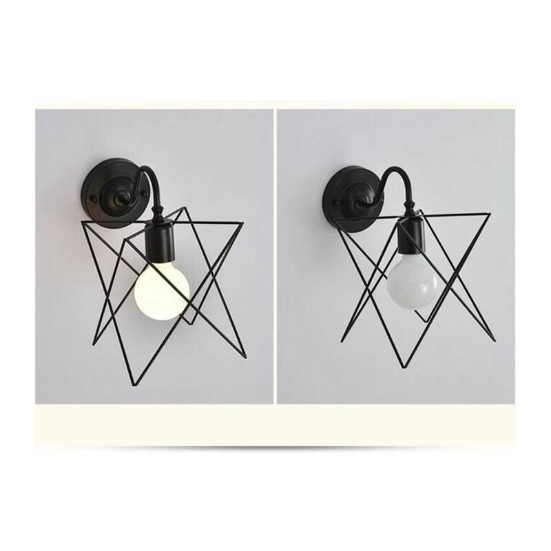 Lampe applique murale métal rétro industrielle eclairage suspension