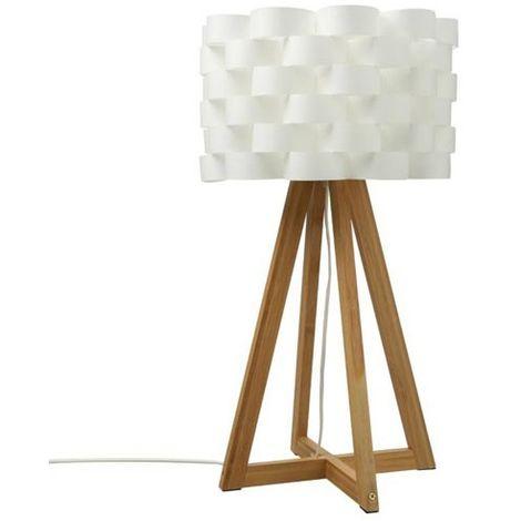 Lampe Bambou Moki H55 Blanc Atmosphera