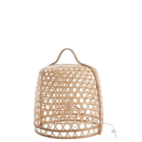 Lampe Basse Ronde Bambou Naturel