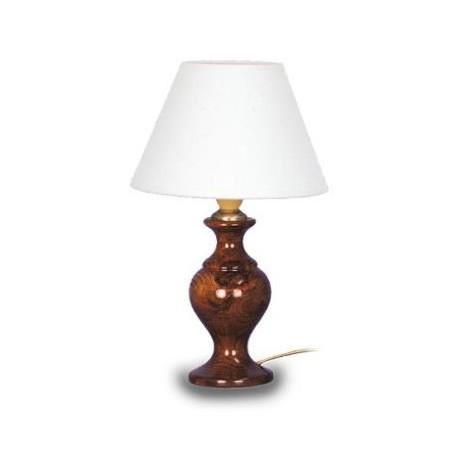 LAMPE BOIS Lampe de chevet Bois hetre - 18x18x29cm - Foncé