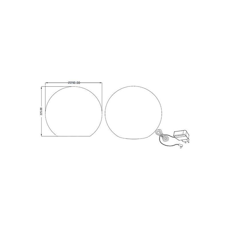 Pampelonne 25 Led D'extérieur Rechargeable Lampe Boule nOX0wPk8