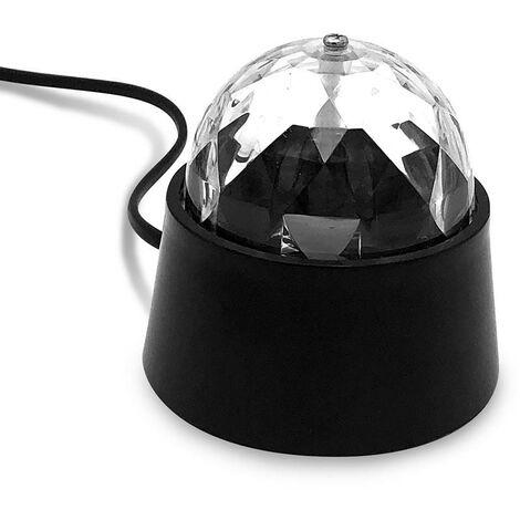 Lampe boule disco à facettes