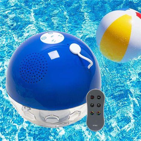 Lampe boule lumineuse flottante étanche enceinte piscine Bluetooth