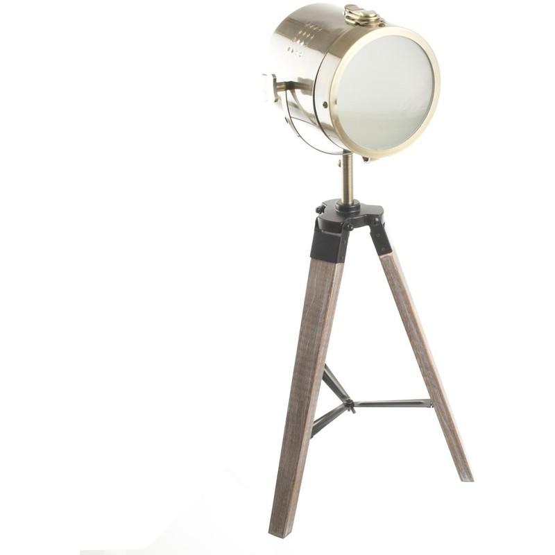 Bronze Métalamp; 68 Ebor Cm En Bois E14 Lampe sQrdht