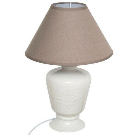Lampe céramique Fango taupe H40 - Gris