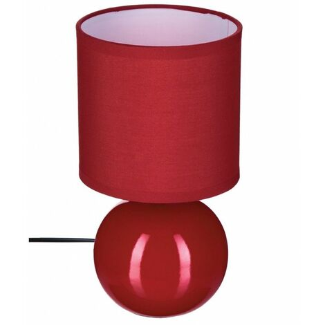 Lampe - Céramique - Rouge - H 25 cm