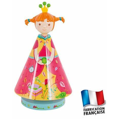 Lampe chambre bébé fille princesse Tresses - Orange