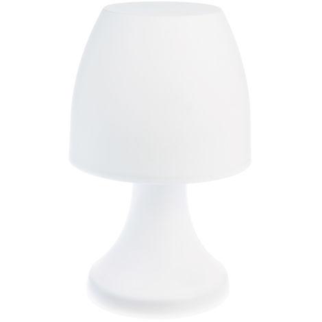 Lampe champignon à poser 27 cm - Blanc