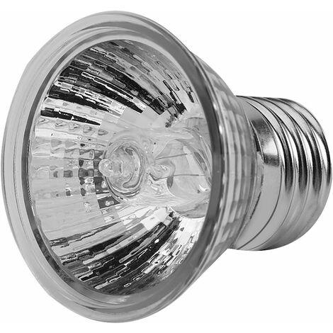 Lampe chauffante pour reptiles, 75W UVA UVB lampe solaire à spectre complet bronzer ampoule chauffante pour barbe dragon lézard tortue gecko et plus