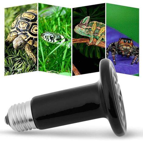 Lampe chauffante Terrarium en céramique, Ampoule Infrarouge uvb Tortue sans lumière pour Reptiles Amphibiens Hamsters Serpents Oiseaux volaille Poulet Coop Habitats 220-230V