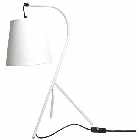 Lampe chevet design trépied blanc - CAMPANA - Blanc
