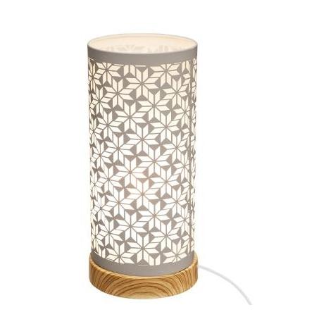 Lampe cylindre touch - 12 x 27,5 cm - Fer - Modèle aléatoire