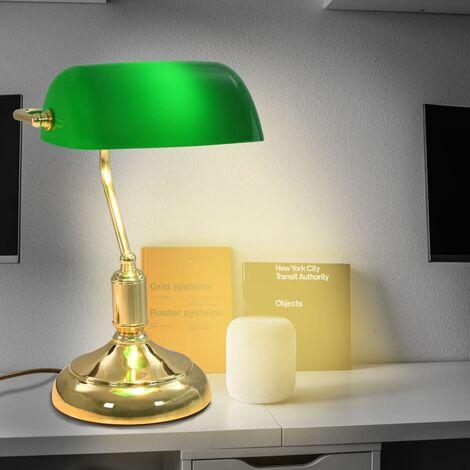 Lampe de bureau 40 W Vert et doré