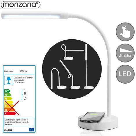 Lampe de bureau à LED touch control - chargeur sans fil et USB de smartphone