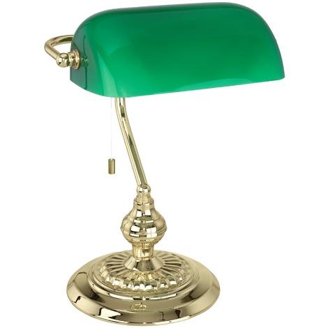 Lampe de bureau Banker Eglo - E27 - Vert