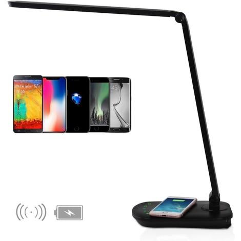 Lampe de Bureau avec Recharge Portable Wireless Noir 8W