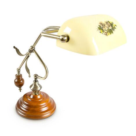 Lampe de Bureau Banquier avec Abat-Jour Jaune E 27, jaune