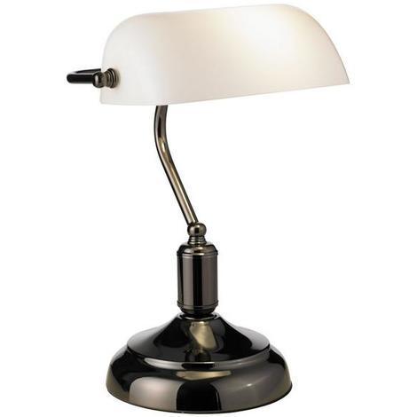 Lampe de bureau banquier Lo design Bank Noir Métal - Verre LO00013896