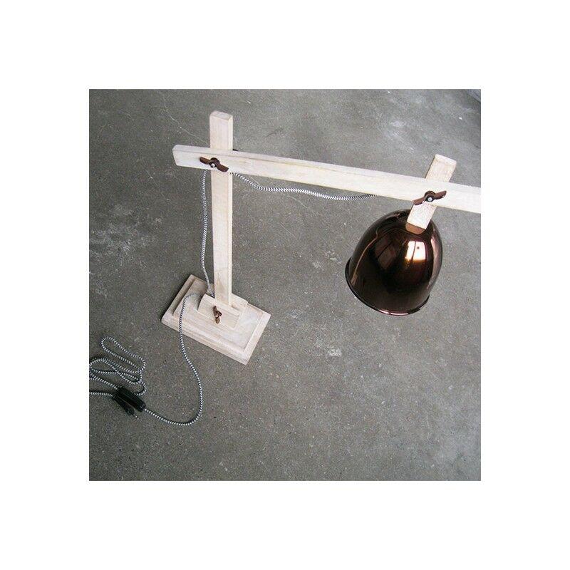 Lampe de bureau design Expert bois Marron Glacé