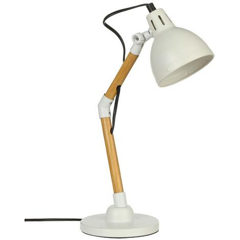 Lampe de bureau en bois et métal - Atmosphera