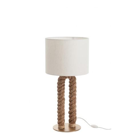 LAMPE DE BUREAU EN FORME DE U JUTE NATUREL
