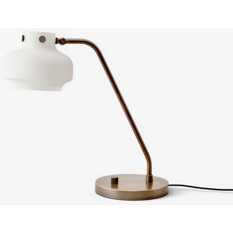 Copenhagen Led Cm Bureau Avec Lampe Variateur Blanc En Laiton De D16 Sc15 yvn0Nm8wO