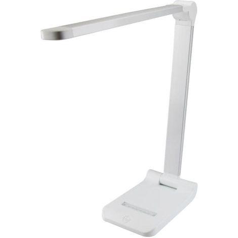 Argent Luminosité Blanc Bureau Led De Et Couleurs 10w3 Lampe Niveaux L435ARjq