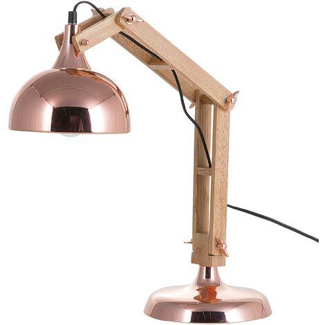 Lampe de bureau moderne de couleur cuivre
