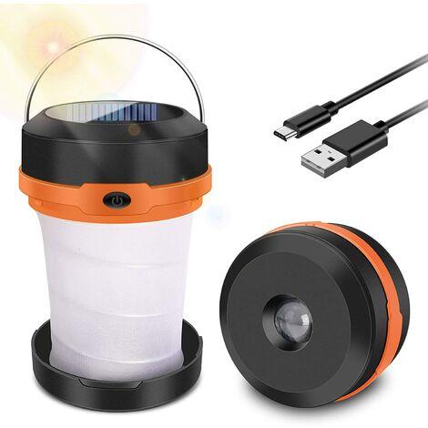 Lampe De Camping, Lanterne Portable Rechargeable USB, Mini Lampe de Poche Ppable 3 Modes d'Eclairage Réglable,pour Bricolage, Cave, Tente, Eclairage de Secours