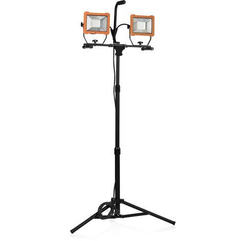 Lampe de chantier Smartwares FCL-80114 avec trépied – 2 LEDs 30 W – 4800 lumens