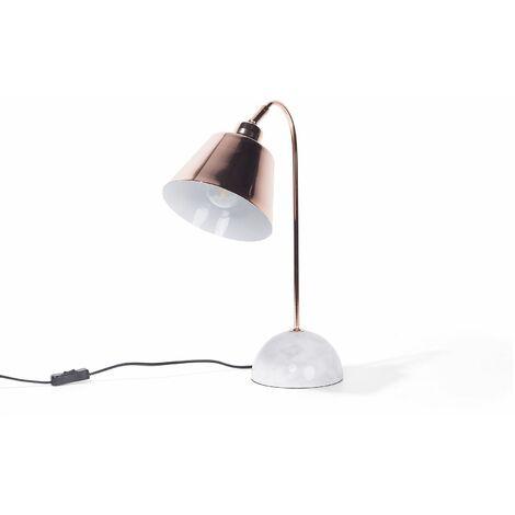 Lampe de chevet au style classique en métal couleur cuivrée