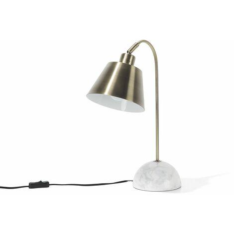 Lampe de chevet au style classique en métal couleur laiton