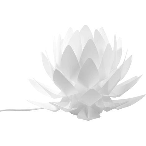 Lampe de chevet blanche en forme de chardon