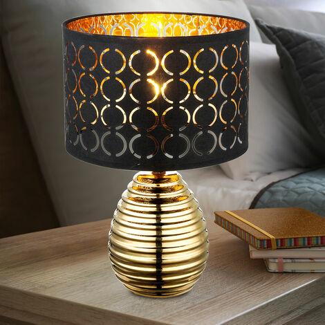 Lampe de chevet design avec lampe de lecture en or noir doré projecteur de chambre à coucher Globo 21616