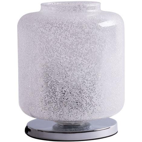 Lampe de chevet design Lampe de chevet résidentielle de la chambre à coucher résidentielle en cristal comprenant des ampoules à LED