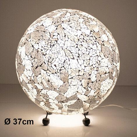 Lampe de chevet design mosaïque noir blanc salon chambre coquille lampe Globo 25832