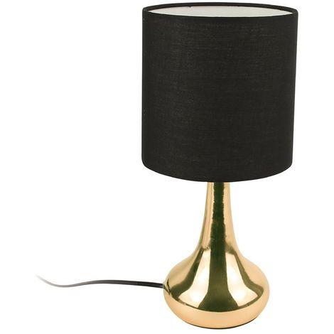 Lampe de chevet design Touch - Noir
