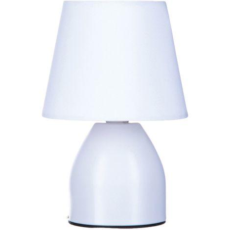 Lampe de chevet - Diam. 12,5 cm. - Blanc
