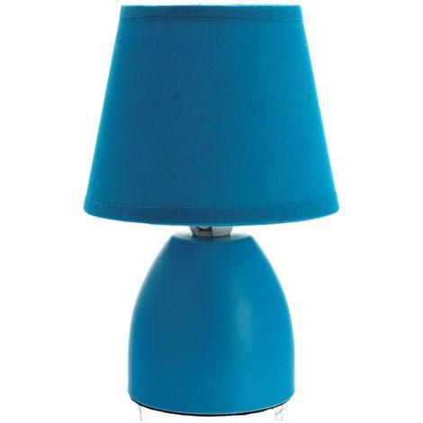 Lampe de chevet - Diam. 12,5 cm. - Turquoise