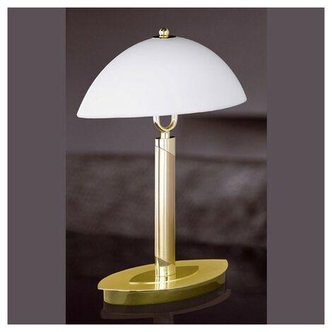 Lampe de chevet Divinence laiton - Blanc