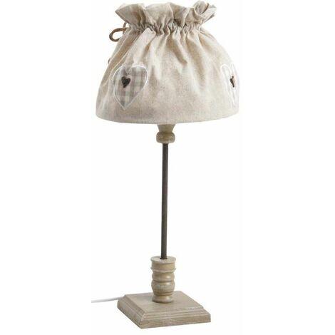 En Coton Écru Bois Nla1590 Lampe Chevet De Et 4A3LR5jq